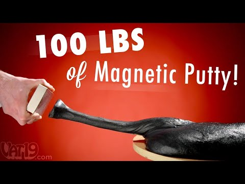 Burning Questions: 100 lbs (45 kg) of Magnetic Thinking Putty