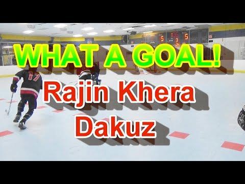 What A Sick Goal By Rajin Khera! Best Ball Hockey Dangles Best Dekes Amazing Ball Hockey Goals!