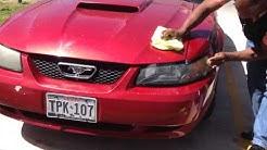 Wax On Wax Off - Conley Car Wash Part 1 Red Mustang - San Marcos Texas