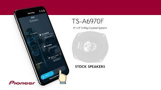 Pioneer TS-A6970F - CarSoundFit App Listening Demonstration