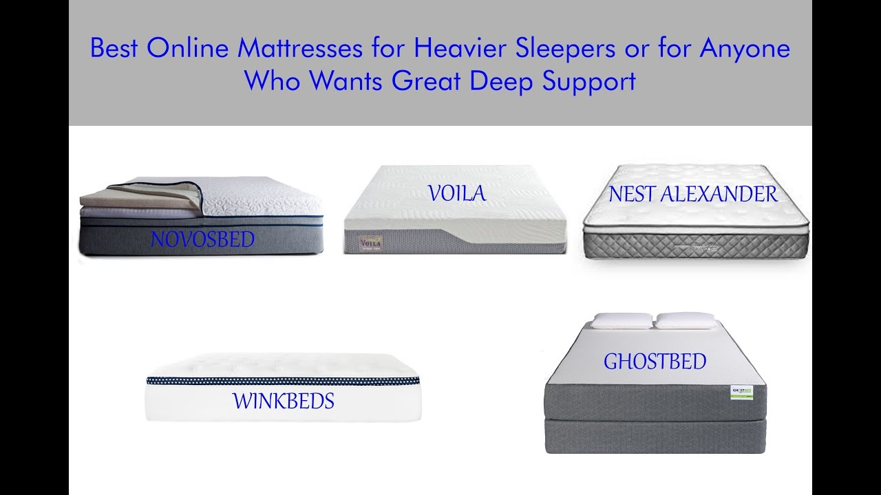 Best Online Mattresses For Heavier Sleepers Mattress Reviews