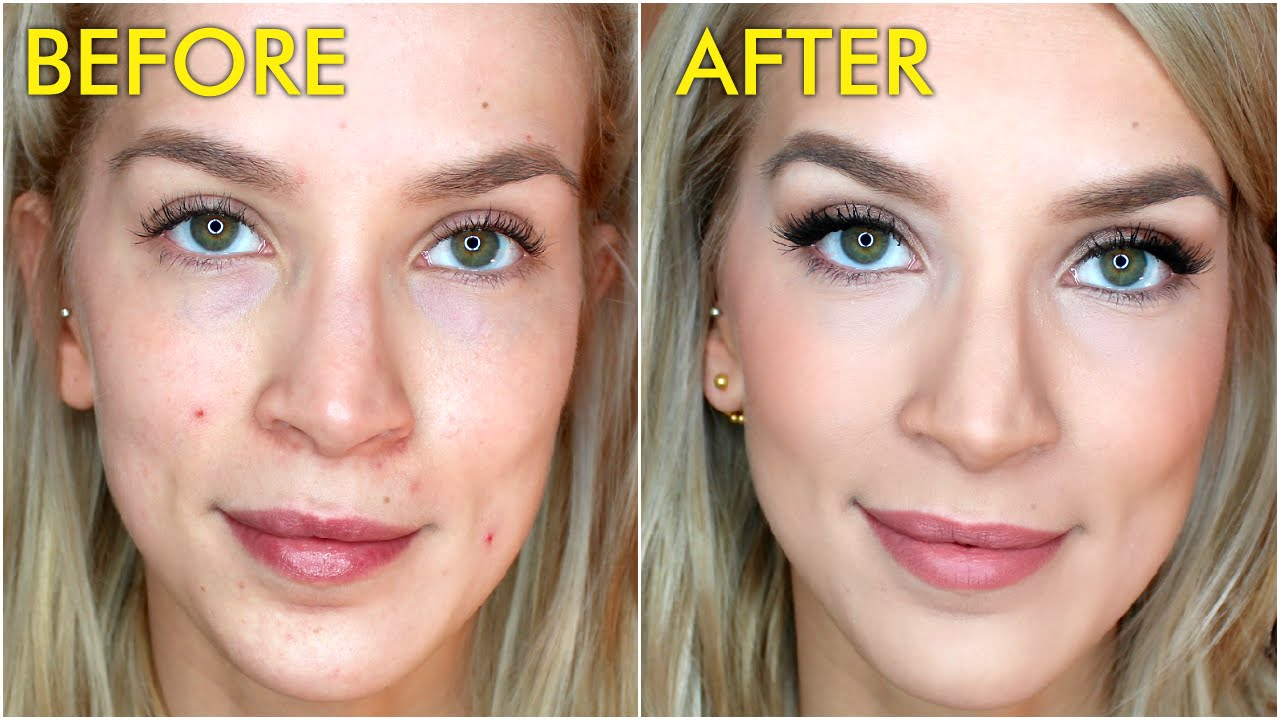 How To Cover Acne Blemishes with Makeup - YouTube