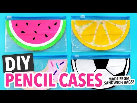 5 DIY Pencil Cases made from a Sandwich Bag ~ Back to School - HGTV Handmade