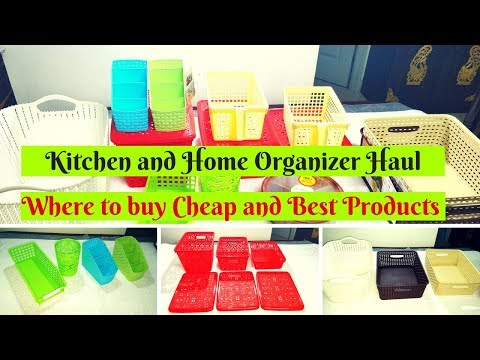 Kitchen and Home Organizers Shopping HAUL - Where to buy Organizers for cheap price