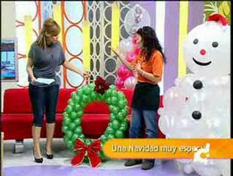 Decoraci n con globos vadeglobos navidad youtube for Ideas decoracion navidad colegio