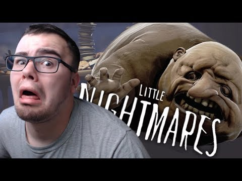 CHASED BY A HUGE FAT HUMAN EATING MONSTER | Little Nightmares #5