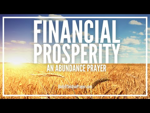 Prayer For Financial Prosperity | Miracle Abundance Prayer