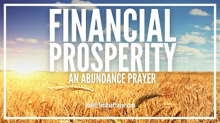 Prayer For Financial Prosperity - Live The Abundant Life