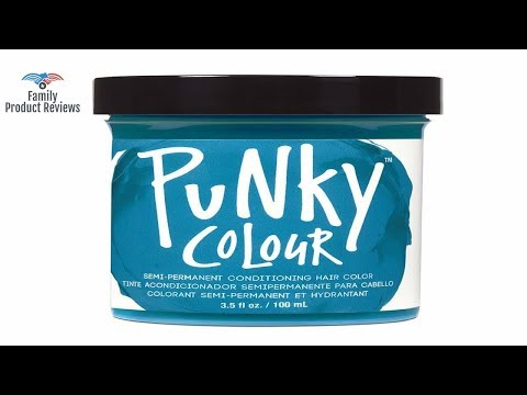 Punky Turquoise Semi Permanent Conditioning Hair Color Vegan PPD And Paraben Free Lasts Up To 25