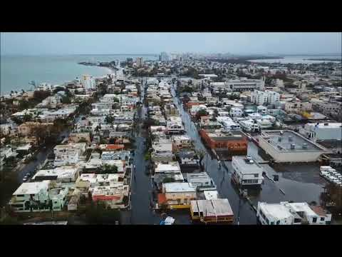 Drone Video Shows Flooded Streets in San Juan After Hurricane Maria