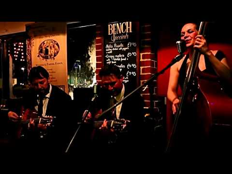 Female Fronted Acousitc Swing Duo for Hire - The Hot Club
