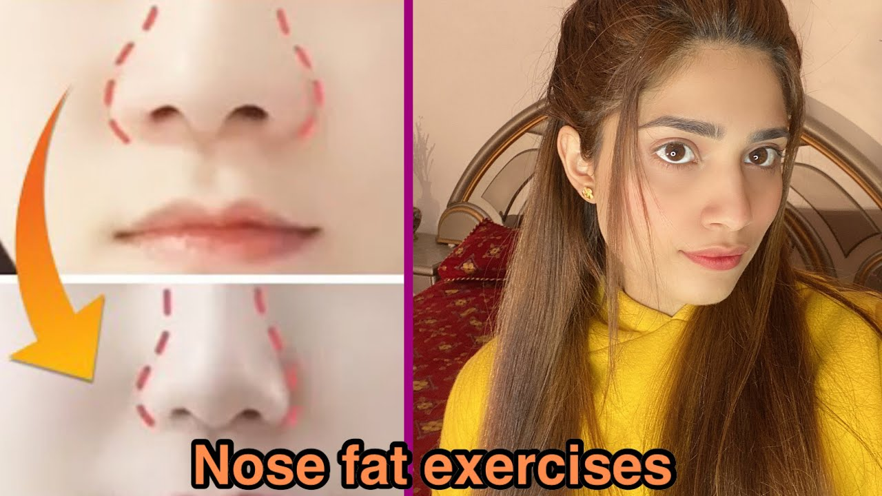 10 best Nose exercises to reduce nose fat 10 days challenge how to