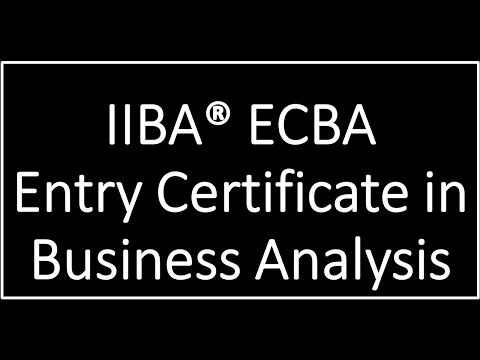 Entry certificate in business analysis (ECBA) | Adaptive US