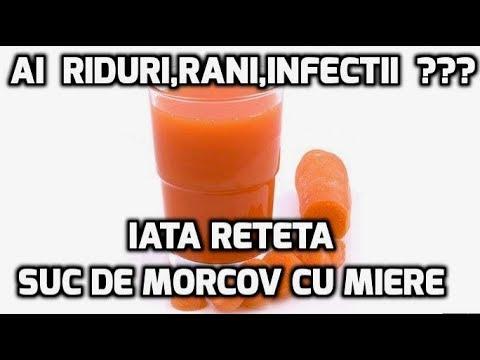 Suc de morcov cu miere remediu pentru RIDURI,RANI,INFECTII