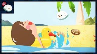 [씽씽츄] #26 여름 물놀이 수영 바다 해변 스노쿨링 하다가 해파리한테 쏘이다! 물에 빠진 사람 구하는 방법 익사 사고 인공호흡 물고기 니모 도리 키즈 만화