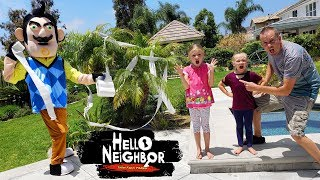 Hello Neighbor in Real Life Toilet Papers Us Prank!!! TP Scavenger Hunt!