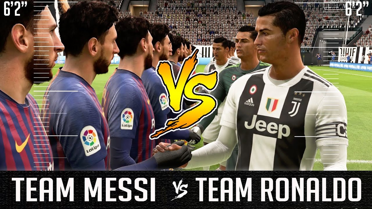 What If A Team Of Messi S Were The Same Height As A Team Of Ronaldo S Fifa 19 Experiment Youtube