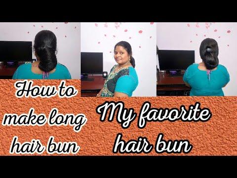 Hair bun for long hair // my all time favorite