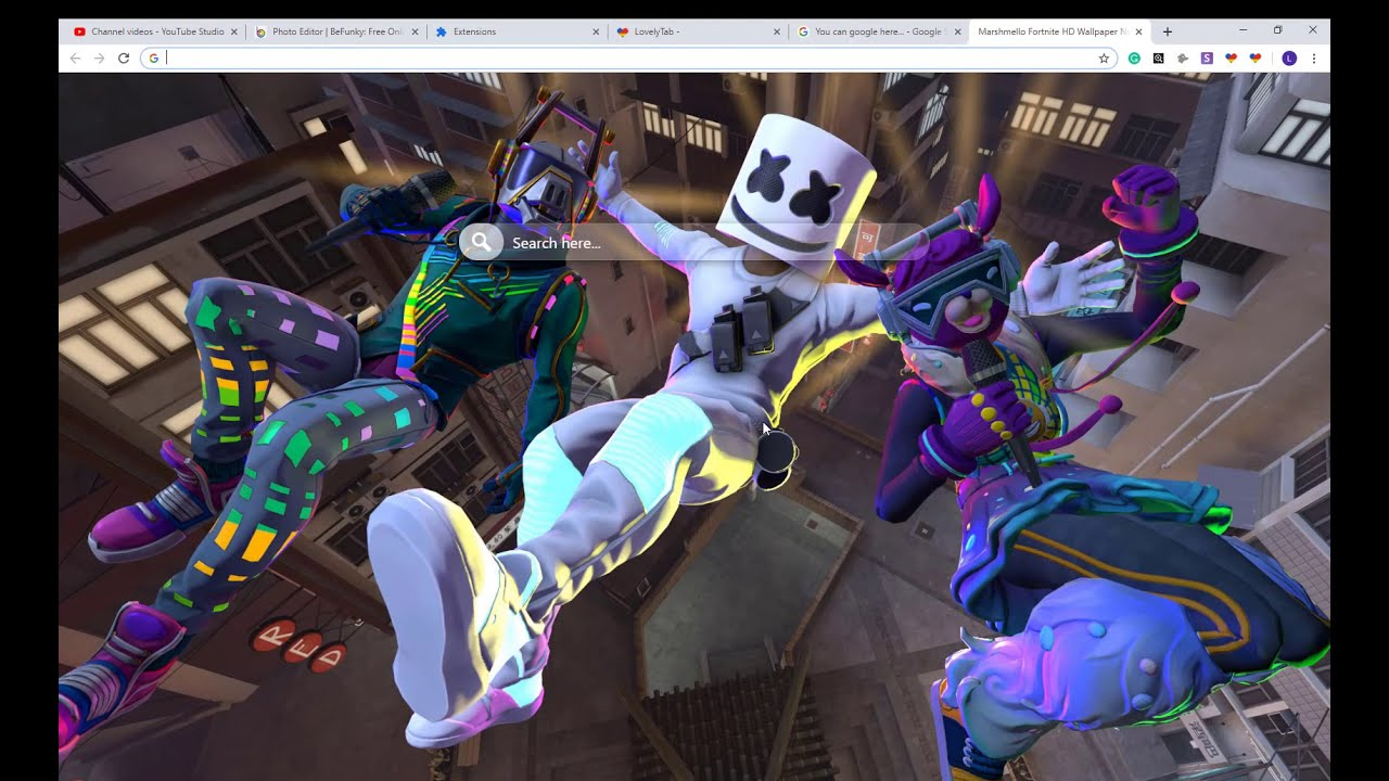 Awesome Marshmello Fortnite Wallpaper New Tab For Fans Youtube