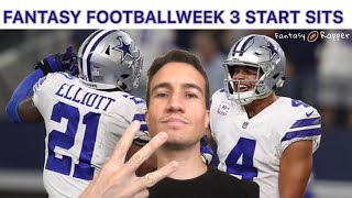 Fantasy Football 2019 Week 3 Start Sits