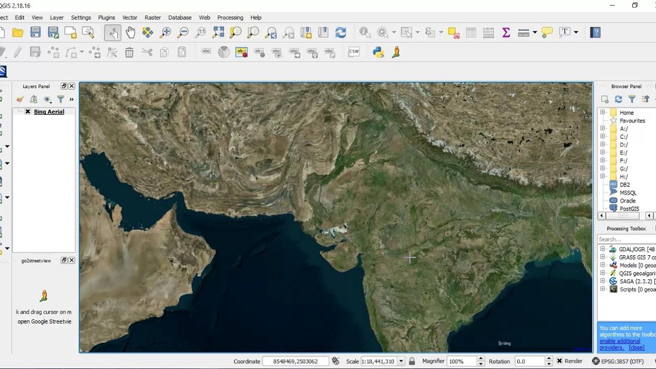 Add Bing Maps or Google Earth Layer in QGIS