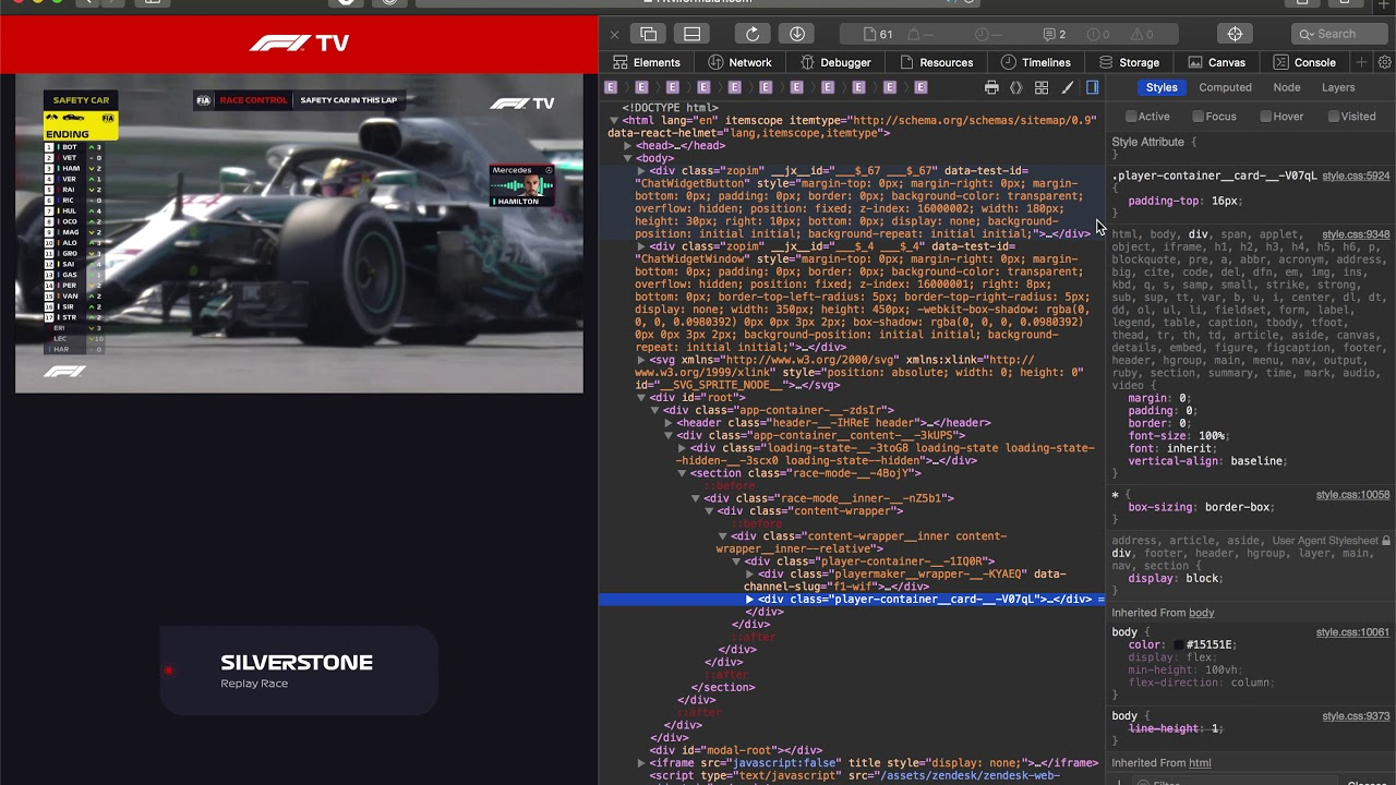 How to change to commentary audio to English in F1 TV (macOS)