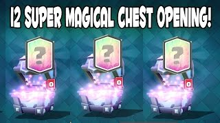 Clash Royale - BEST SUPER MAGICAL CHEST OPENING! Ice Wizard Hunt - 12 Super Magical Chests