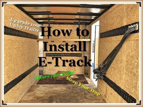 How to install E-Track & a shelf in a Utility Cargo trailer
