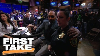 Stephen A. Tries To Get Cowboys Fan Thrown Out Of Audience | First Take | February 3, 2017