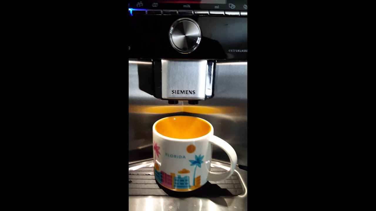 Siemens Eq 9 Fully Automated Expresso Machine Youtube