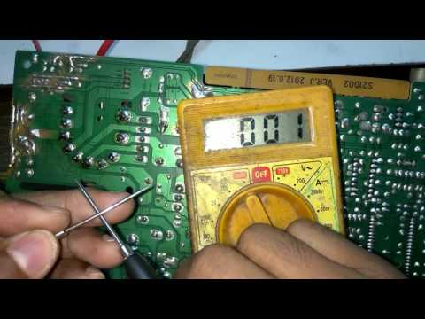 Horizontal section  full  description  in crt tv and  its  voltage  reference PART 1