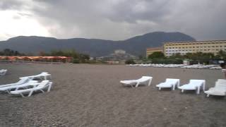 Dinler Hotels 5* Первый раз в Турции.Аланья.Мы приехали в отель и осматриваем пляж.