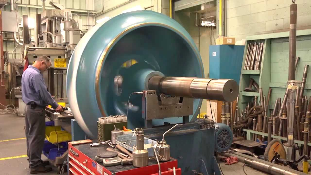 Balancing A Huge Pump Impeller Used At Pearl Harbor Youtube