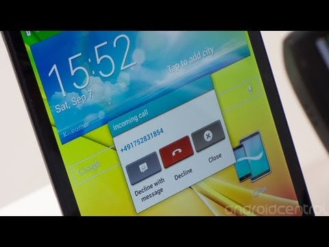Q Pair and shared call notifications on the LG G Pad 8.3 and G2