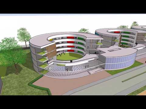 Proposed School at Dehu Rd. Cantt. - Concept Video - Architectural Design