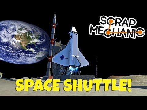Shuttle Launch! - Scrap Mechanic Moonbase - EP 158 (World Download)