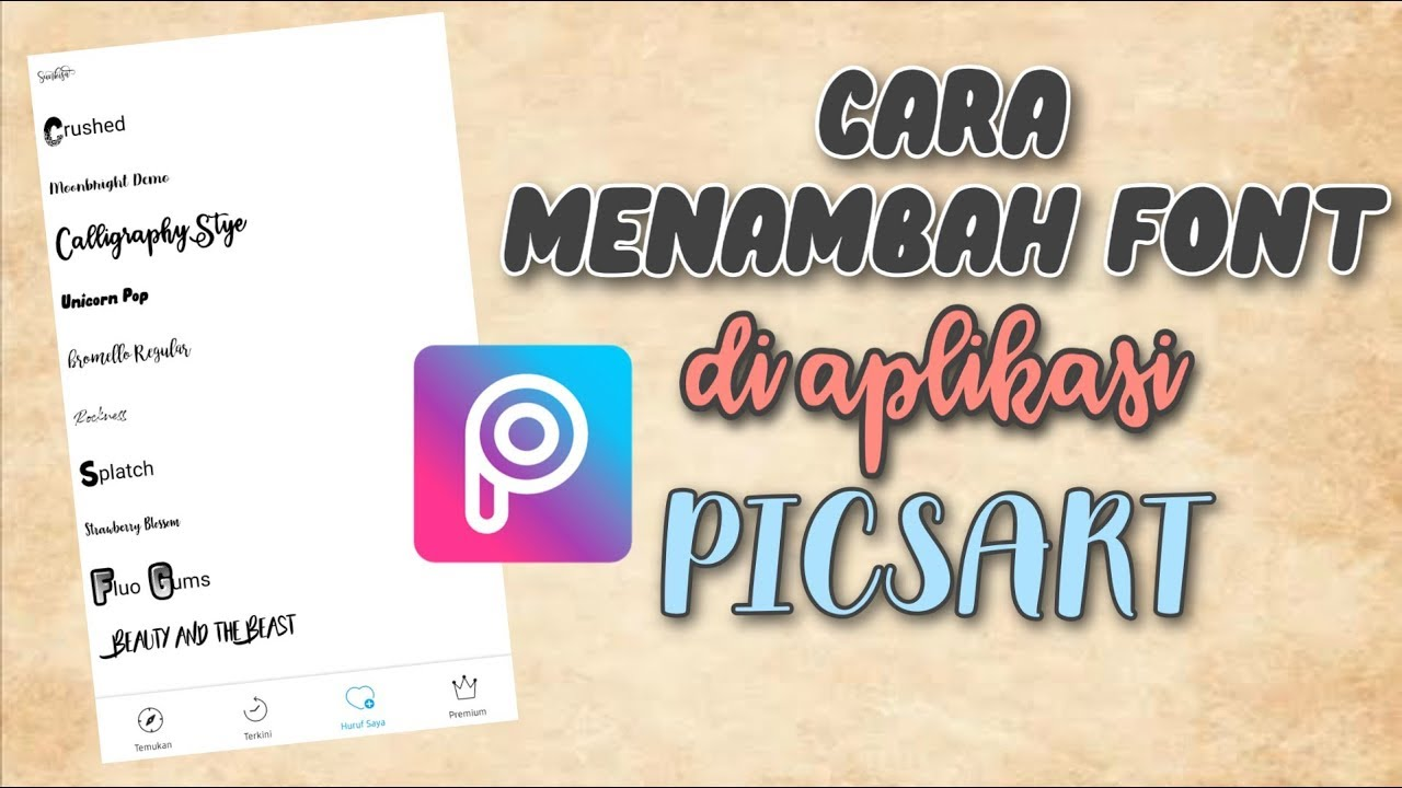 Cara Menambahkan Font di PicsArt