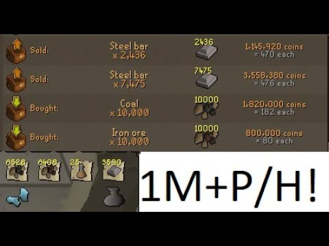 OSRS guide Blast furnace OVER 1M GP/HR?! (80K/HR EXP) (Steel bars)