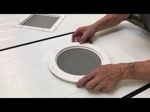 Installation D Un Hublot Sur Une Porte De Garage Youtube