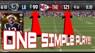 fastest way to get 99 tom brady with only one play how to get 63 touchdowns easily