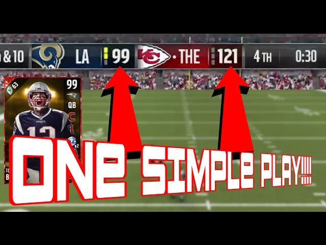 FASTEST WAY TO GET 99 TOM BRADY WITH ONLY ONE PLAY!!HOW TO GET 63 TOUCHDOWNS MADDEN 17 ULTIMATE TEAM