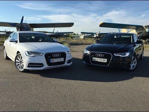 Teaser Before Test Drive Audi A6 White&Black