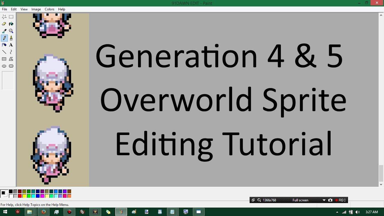 pokemon generation 4 amp 5 overworld sprite editing tutorial