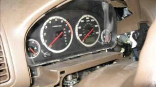 2003 Honda CRV instrument cluster light replacement