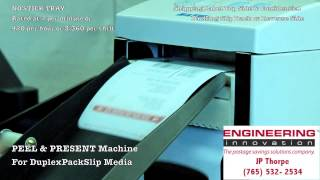 E.I.I. PEELER OUTPUTTING DuplexPackSlip 2-Sided Media