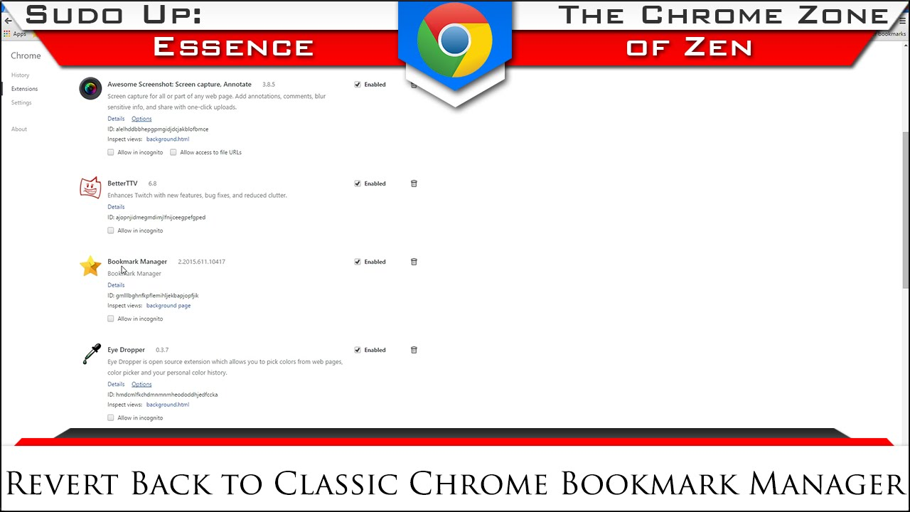How to Revert to Classic Chrome's Bookmark Manager | The Chrome Zone