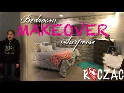 BEDROOM MAKEOVER SURPRISE!!!  ROCZAC: Episode 53