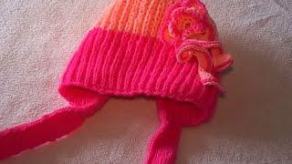 Зимняя шапочка для малыша 4 - 6 месяцев