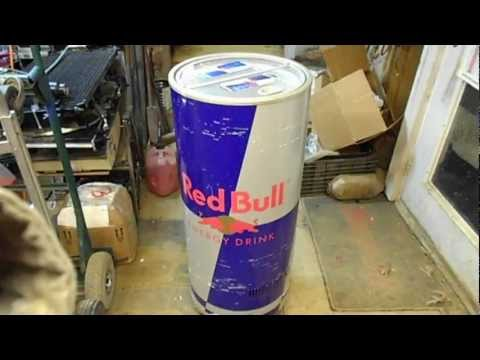 Red Bull Stand Up Retail Store Floor Cooler - FOR SALE - YouTube