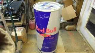Red Bull Stand Up Retail Store Floor Cooler - For Sale